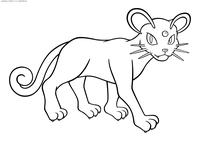 Покемон Персиан (Persian) - скачать и распечатать раскраску. Раскраска Персиан - покемон Нормального типа. Эволюционирует из покемона Мяут на 28 уровне