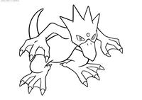 Покемон Голдак (Golduck) - скачать и распечатать раскраску. Раскраска Голдак - покемон Водного типа. Эволюционирует из покемона Псайдак на 33 уровне
