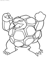 Покемон Голем (Golem) - скачать и распечатать раскраску. Раскраска Покемон