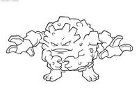 Покемон Гравелер (Graveler) - скачать и распечатать раскраску. Раскраска Покемон