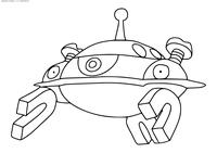 Покемон Магнезон (Magnezone) - скачать и распечатать раскраску. Раскраска Покемон