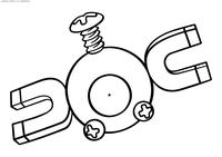 Покемон Магнемайт (Magnemite) - скачать и распечатать раскраску. Раскраска Покемон