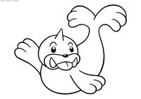 Покемон Сил (Seel) - скачать и распечатать раскраску. Раскраска Покемон