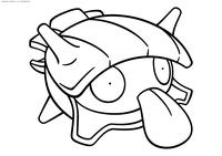 Покемон Шеллдер (Shellder) - скачать и распечатать раскраску. Раскраска Покемон