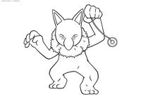 Покемон Гипно (Hypno) - скачать и распечатать раскраску. Раскраска Покемон