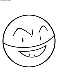 Покемон Электрод (Electrode) - скачать и распечатать раскраску. Раскраска Покемон