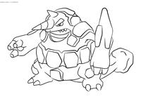 Покемон Райпериор (Rhyperior) - скачать и распечатать раскраску. Раскраска Покемон