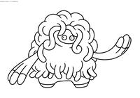 Покемон Тангроус (Tangrowth) - скачать и распечатать раскраску. Раскраска Покемон