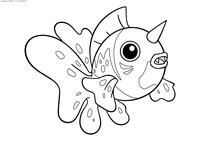 Покемон Сикинг (Seaking) - скачать и распечатать раскраску. Раскраска Покемон