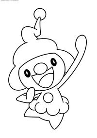 Покемон Майм Джуниор (MimeJr) - скачать и распечатать раскраску. Раскраска Покемон