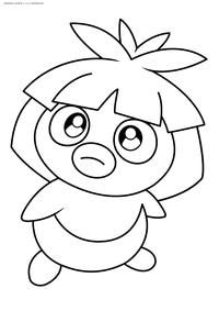 Покемон Смучам (Smoochum) - скачать и распечатать раскраску. Раскраска Покемон