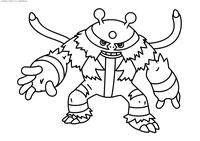 Покемон Эликтивайр (Electivire) - скачать и распечатать раскраску. Раскраска Покемон
