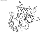 Покемон Гаярдос (Gyarados) - скачать и распечатать раскраску. Раскраска Покемон