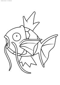 Покемон Мэджикарп (Magikarp) - скачать и распечатать раскраску. Раскраска Покемон