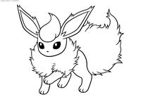 Покемон Флареон (Flareon) - скачать и распечатать раскраску. Раскраска Покемон