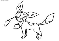 Покемон Гласеон (Glaceon) - скачать и распечатать раскраску. Раскраска Покемон