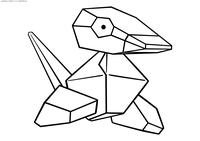 Покемон Поригон (Porygon) - скачать и распечатать раскраску. Раскраска Покемон