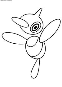 Покемон Поригон-Z (Porygon-Z) - скачать и распечатать раскраску. Раскраска Покемон