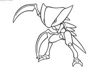Покемон Кабутопс (Kabutops) - скачать и распечатать раскраску. Раскраска Покемон