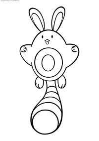 Покемон Сентрет (Sentret) - скачать и распечатать раскраску. Раскраска Покемон