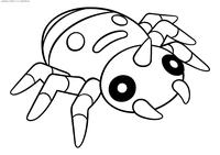 Покемон Спинарак (Spinarak) - скачать и распечатать раскраску. Раскраска оОкемон