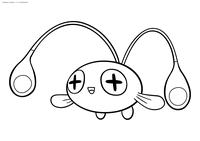 Покемон Чинчоу (Chinchou) - скачать и распечатать раскраску. Раскраска Покемон