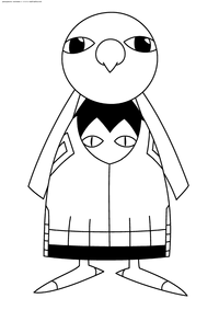 Покемон Ксату (Xatu) - скачать и распечатать раскраску. Раскраска Покемон