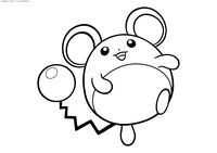 Покемон Марилл (Marill) - скачать и распечатать раскраску. Раскраска Покемон