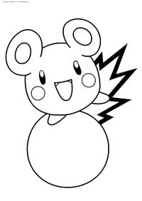 Покемон Азурил (Azurill) - скачать и распечатать раскраску. Раскраска Покемон