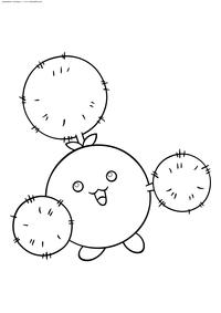 Покемон Джамплафф (Jumpluff) - скачать и распечатать раскраску. Раскраска Покемон
