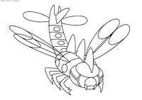 Покемон Янмега (Yanmega) - скачать и распечатать раскраску. Раскраска Покемон