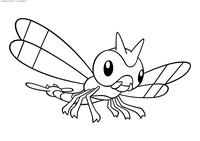 Покемон Янма (Yanma) - скачать и распечатать раскраску. Раскраска Покемон