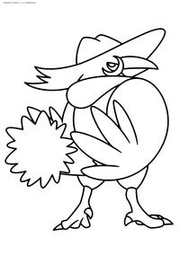 Покемон Хончкроу (Honchkrow) - скачать и распечатать раскраску. Раскраска Покемон