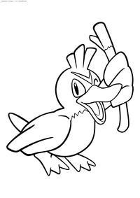 Покемон Фарфечт Д (Farfetchd) - скачать и распечатать раскраску. Раскраска Покемон