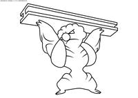 Покемон Гурдурр (Gurdurr) - скачать и распечатать раскраску. Раскраска Покемон