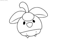 Покемон Боунсвит (Bounsweet) - скачать и распечатать раскраску. Раскраска Покемон