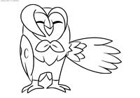 Покемон Дартрикс (Dartrix) - скачать и распечатать раскраску. Раскраска Покемон