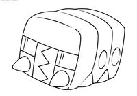 Покемон Чаржабаг (Charjabug) - скачать и распечатать раскраску. Раскраска Покемон