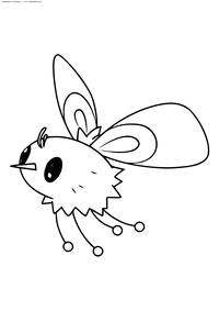Покемон Кьютифлай (Cutiefly) - скачать и распечатать раскраску. Раскраска Покемон