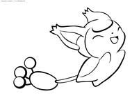 Покемон Скитти (Skitty) - скачать и распечатать раскраску. Раскраска Покемон