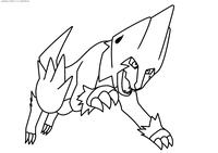Покемон Манектрик (Manectric) - скачать и распечатать раскраску. Раскраска Покемон