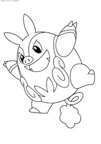 Покемон Пигнайт (Pignite) - скачать и распечатать раскраску. Раскраска Покемон
