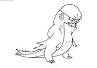 Покемон Гумшус (Gumshoos) - скачать и распечатать раскраску. Раскраска Покемон