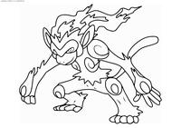 Покемон Инфернейп (Infernape) - скачать и распечатать раскраску. Раскраска Покемон