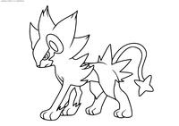 Покемон Люксрэй (Luxray) - скачать и распечатать раскраску. Раскраска Покемон
