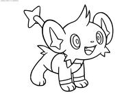 Покемон Шинкс (Shinx) - скачать и распечатать раскраску. Раскраска Покемон
