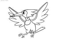 Покемон Трамбик (Trumbeak) - скачать и распечатать раскраску. Раскраска Покемон