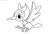 Покемон Пикипек (Pikipek) - скачать и распечатать раскраску. Раскраска Покемон