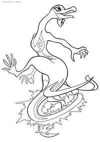Покемон Салазл (Salazzle) - скачать и распечатать раскраску. Раскраска Покемон