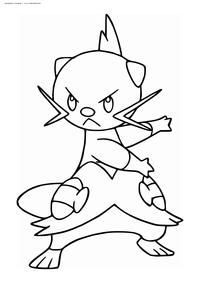 Покемон Девотт (Dewott) - скачать и распечатать раскраску. Раскраска Покемон